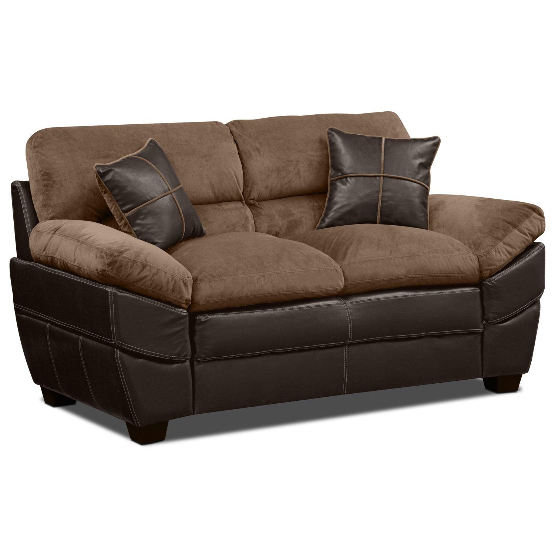 Chandler Beige Loveseat | Value City Furniture