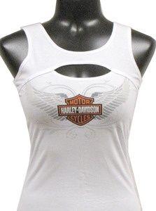 Harley Davidson 174 Women 39 S Tank White Have It For My Daughter Harley Apparel Harley Davidson Women Harley Davidson Clothing
