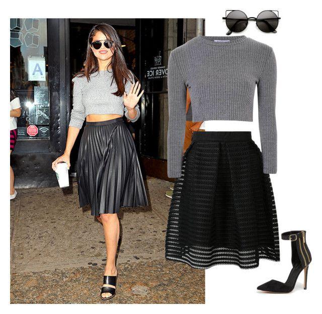 """Selena Works It"" by amazingprettygirl ❤ liked on Polyvore featuring Glamorous, Bebe and selenagomez"