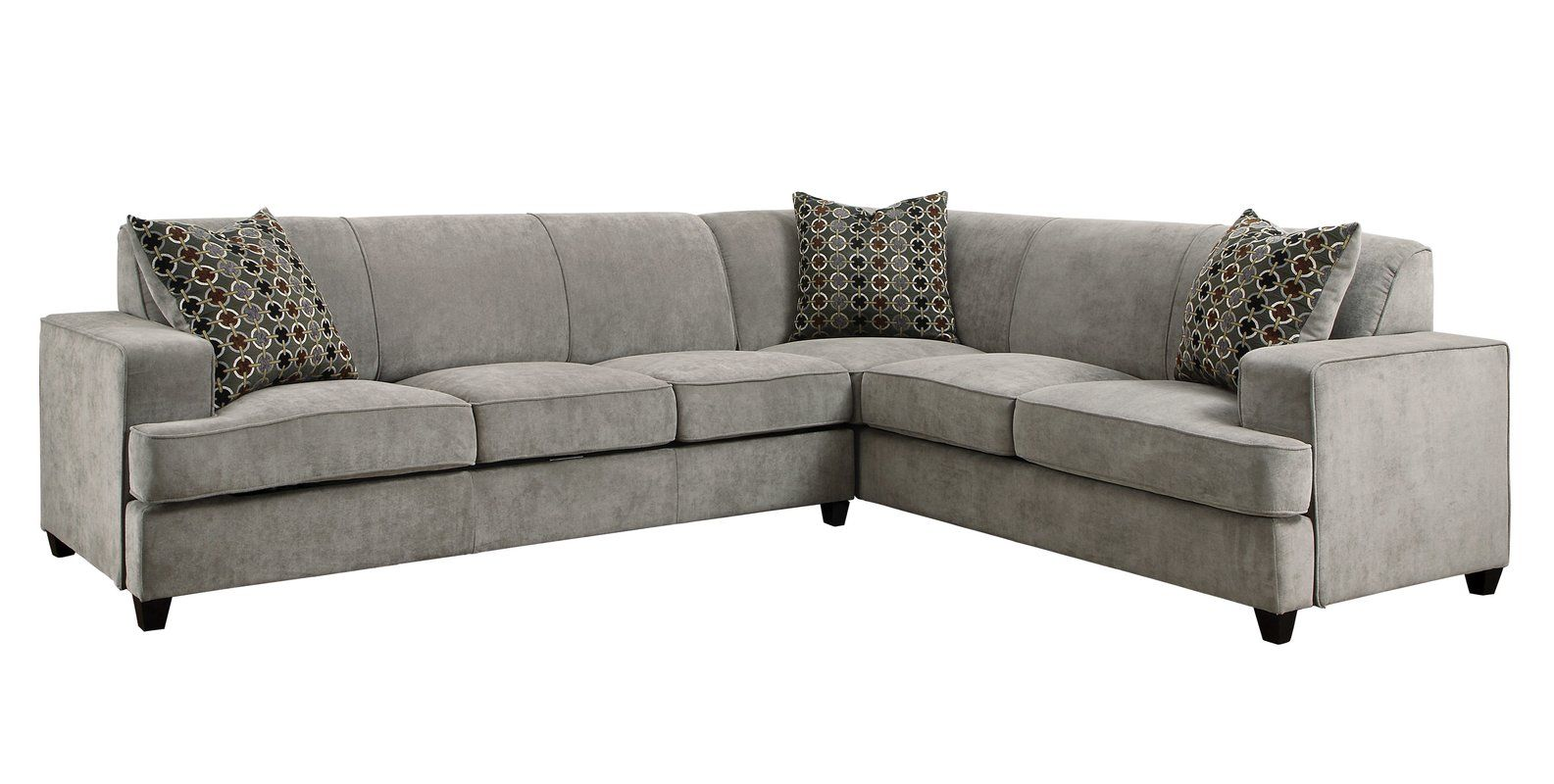Caswell 114 Right Hand Facing Sleeper Sectional Sectional Sleeper Sofa Corner Sectional Sofa Grey Sectional Sofa