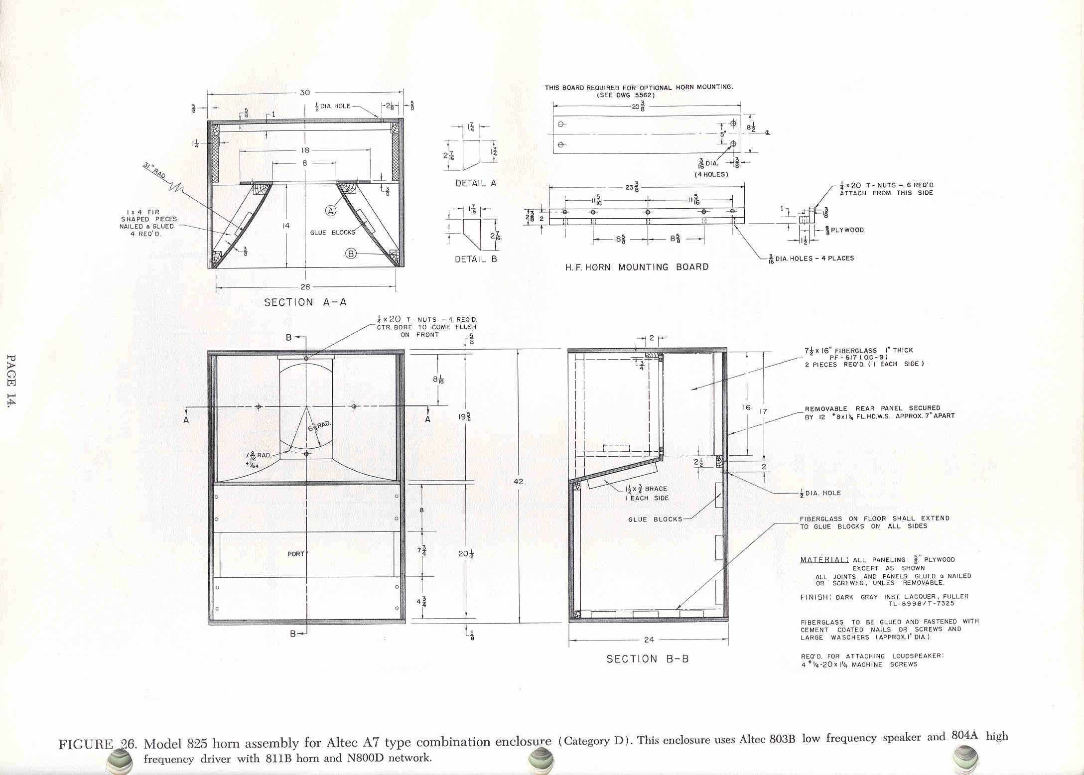 Skema box speaker woofer search results woodworking project ideas - Diy Speakers Http Www Lansingheritage Org Images Altec Plans