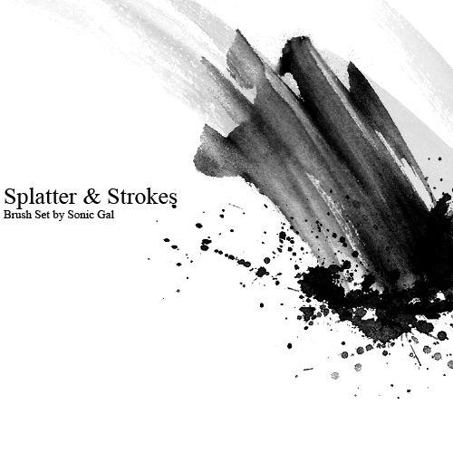 Splatter And Strokes Brush Set By Sonic Gal007 Deviantart Com On
