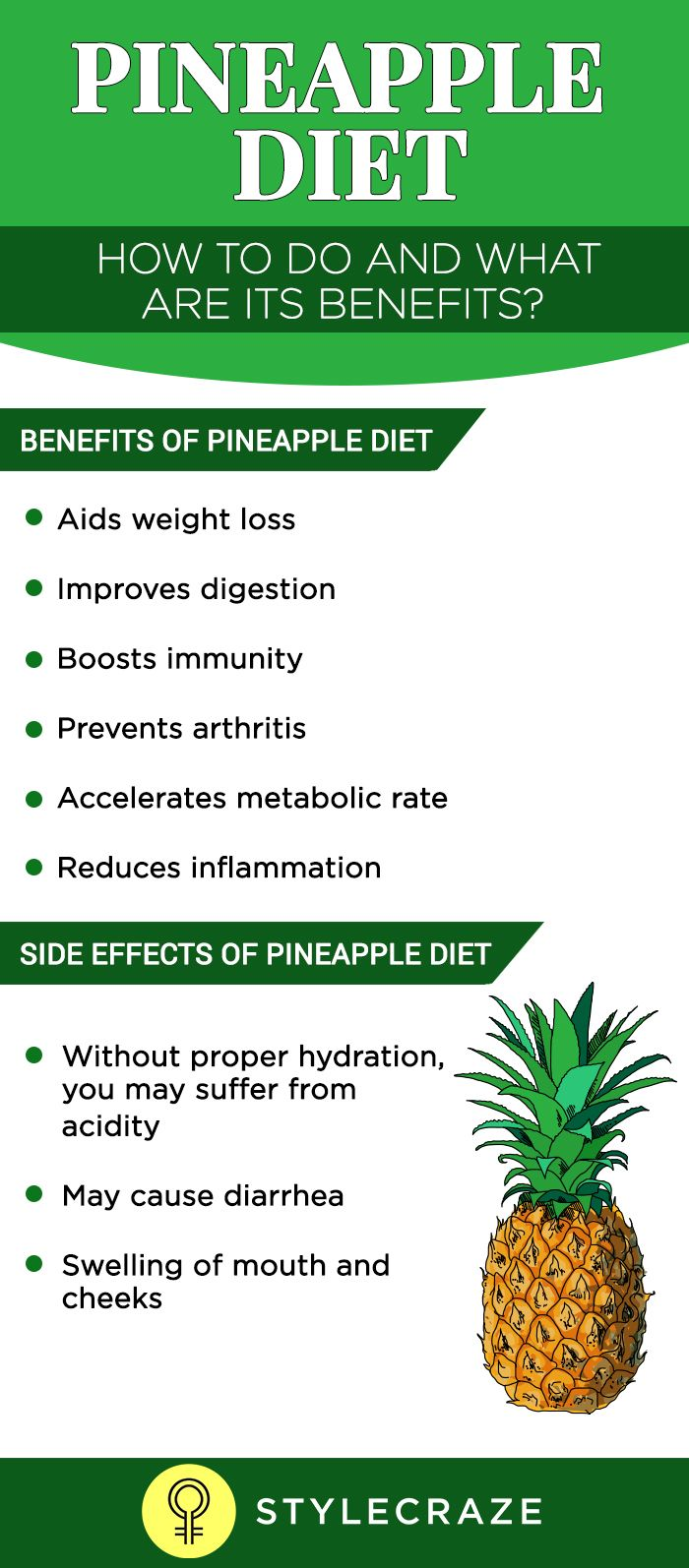 Pineapple Diet – Lose 5 Kilos In 5 Days