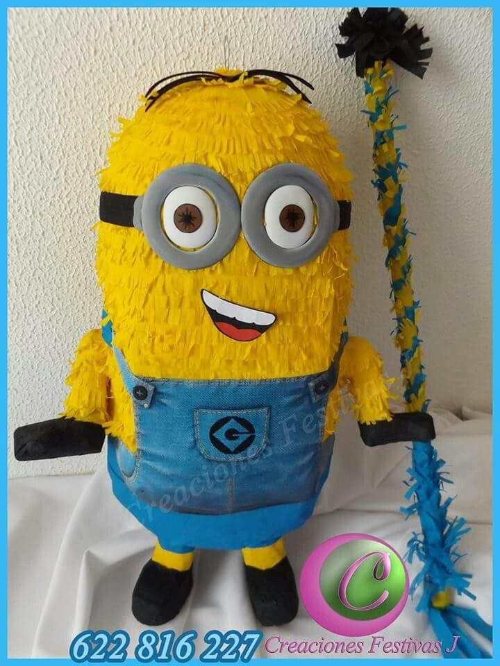 Pi ata minions artesanal 3d en barcelona pi ataespa a for Decoracion de pinatas infantiles
