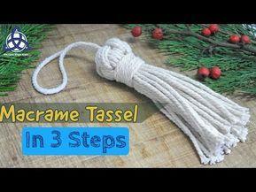How To Make a Tassel In 3 EASY STEPS | DIY Macrame