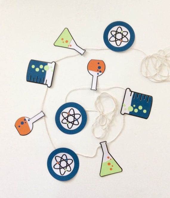 science banner chemistry party science elements by FoxyDecor