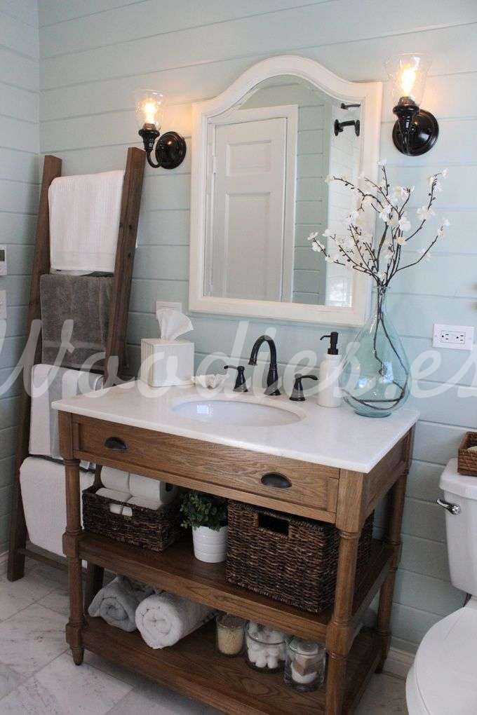 Bano Rustico 8 Ideas De Decoracion Blog De Woodies Modern Farmhouse Bathroom Home Decor Inspiration Bathroom Styling