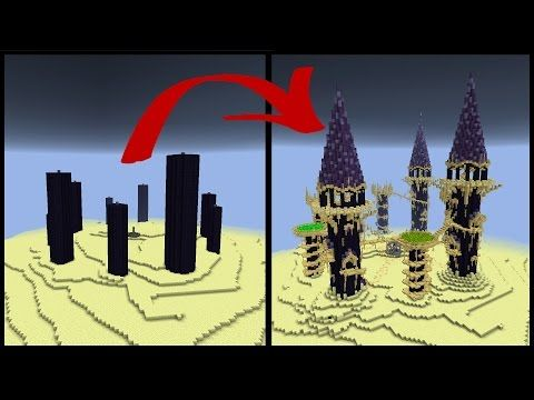 How To Make A Minecraft Obsidian Pillar End City Youtube Minecraft Projects Minecraft Minecraft Decorations