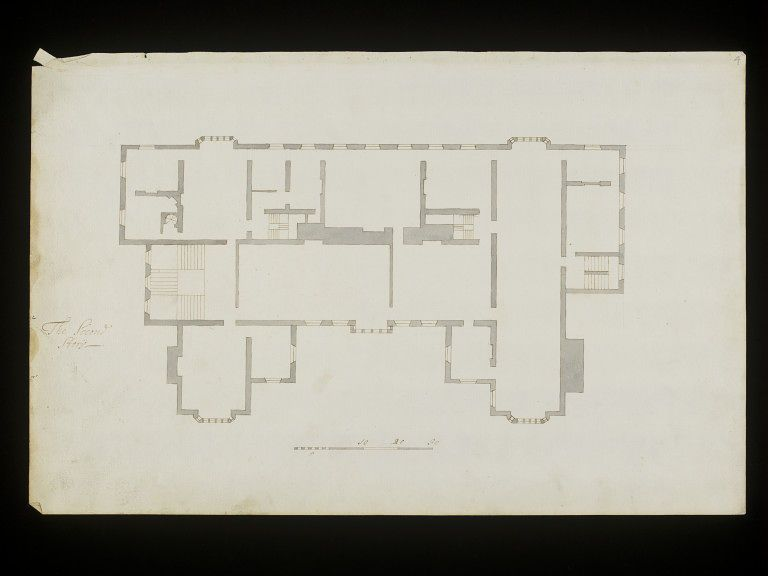 Floor Plan For Ham House Unknown V A Explore The Collections Floor Plans Architecture Drawing Architecture