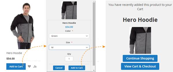 Magento 2 Extensie, Product opties, Meteen Producten op de kaart
