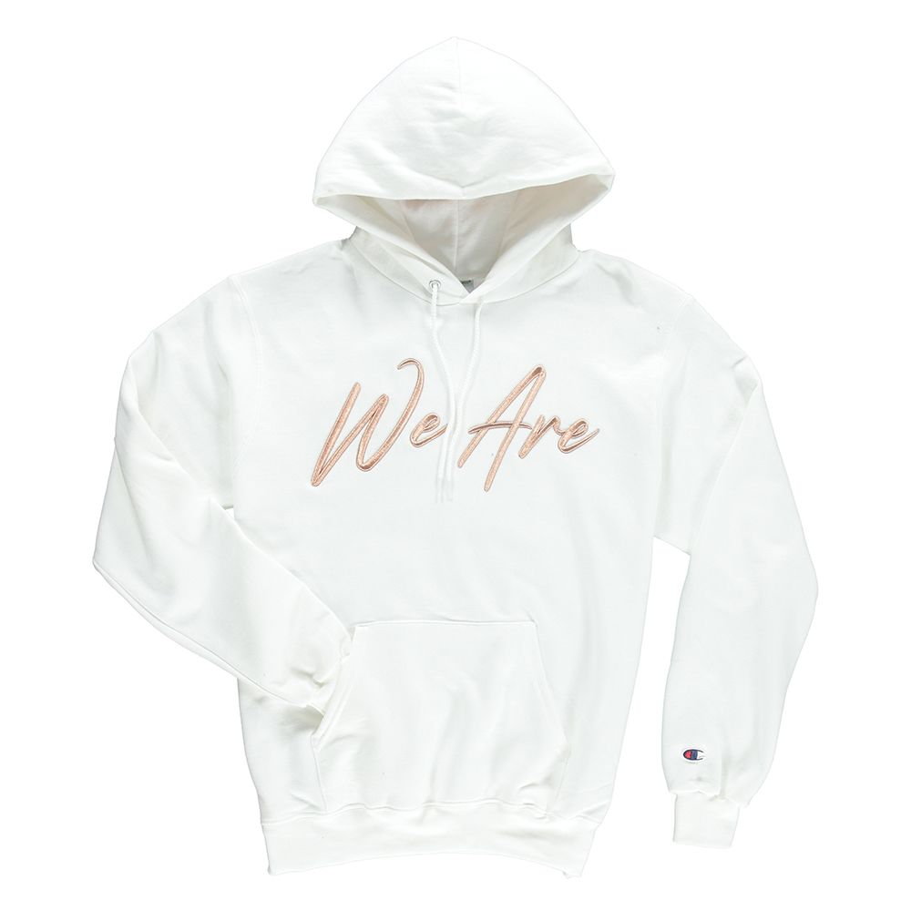 Endomen We Are In Rose Gold White Champion Hoodie White Champion Hoodie Champion Hoodie White Rose Gold [ 1000 x 1000 Pixel ]