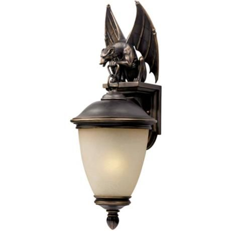 Gargoyle Energy Efficient 33 High Outdoor Wall Light 13840 Lamps Plus Wall Lights Outdoor Wall Light Fixtures Bronze Wall Sconce