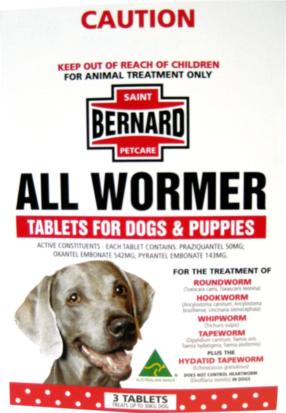 Sbpc All Wormer For Dogs Pups 3 Tablets Dogs Animal Treatment Pup
