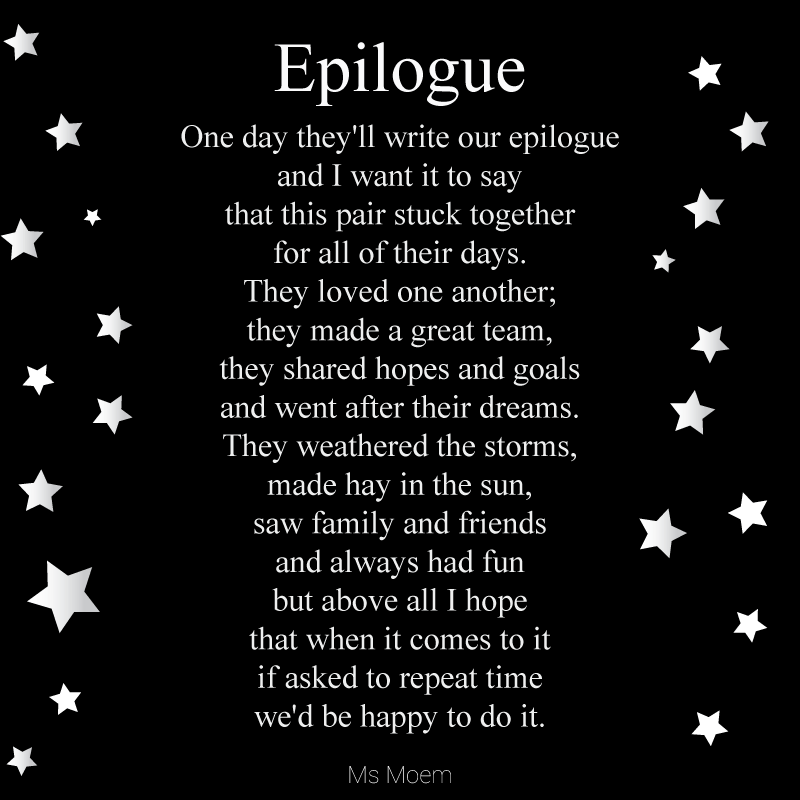 Epilogue ~ A Wedding Poem