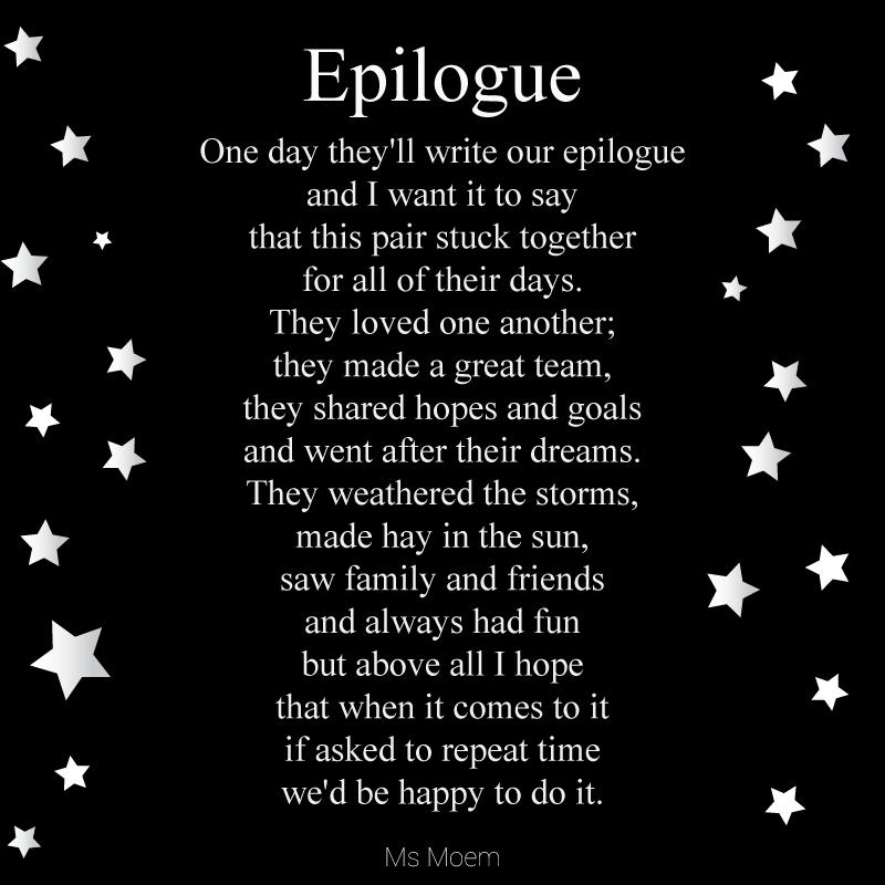 Wedding Day Poems For Bride: Epilogue ~ A Wedding Poem