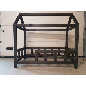Huis Bed Peuter.Industriele Look Peuter Huis Bed Nick 150x70 Zwart Georges In 2019