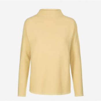 Armedangels Lemon Medine Funnel Neck Sweater: ArmedAngels' mission has always been to ensure that each collection is predicated on timeless wardrobe staples. This lighter-weight organic cotton funnel neck sweater is one of this season's go-to pieces. Its elegant fit and dropped sleeve make it a classic sweater-for everyday appeal. Also available in steel green.