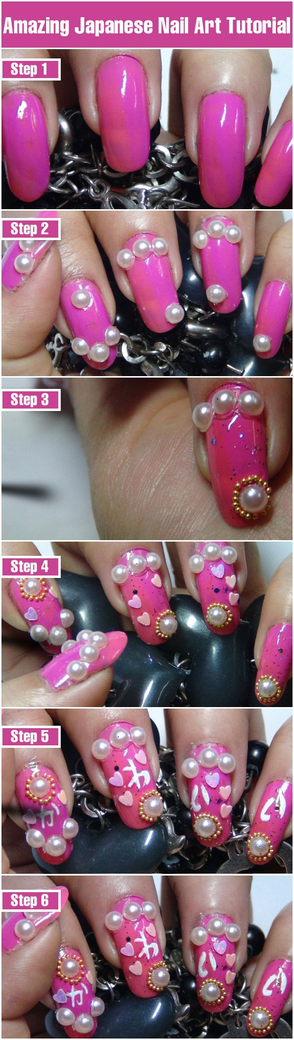Amazing Japanese Nail Art Tutorial With Detailed Steps & Pictures ...