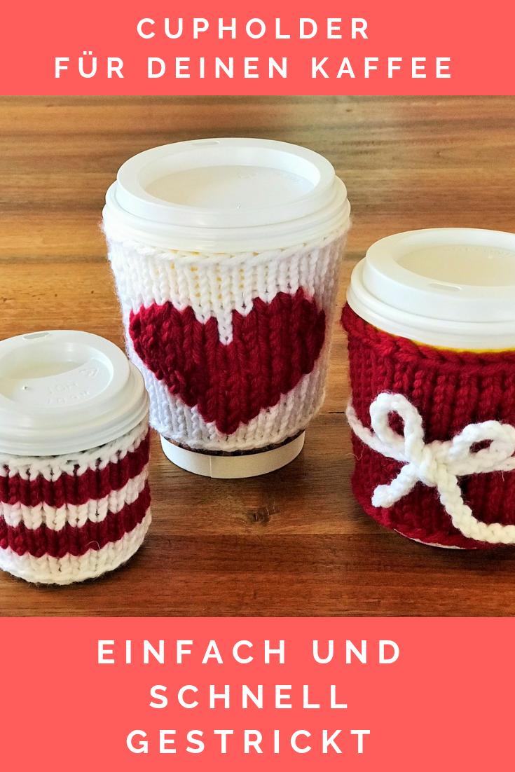 Photo of Anleitung für schöne Getränkehalter für Kaffeetassen – einfach und schnell selbst zu stricken – mit Kindern