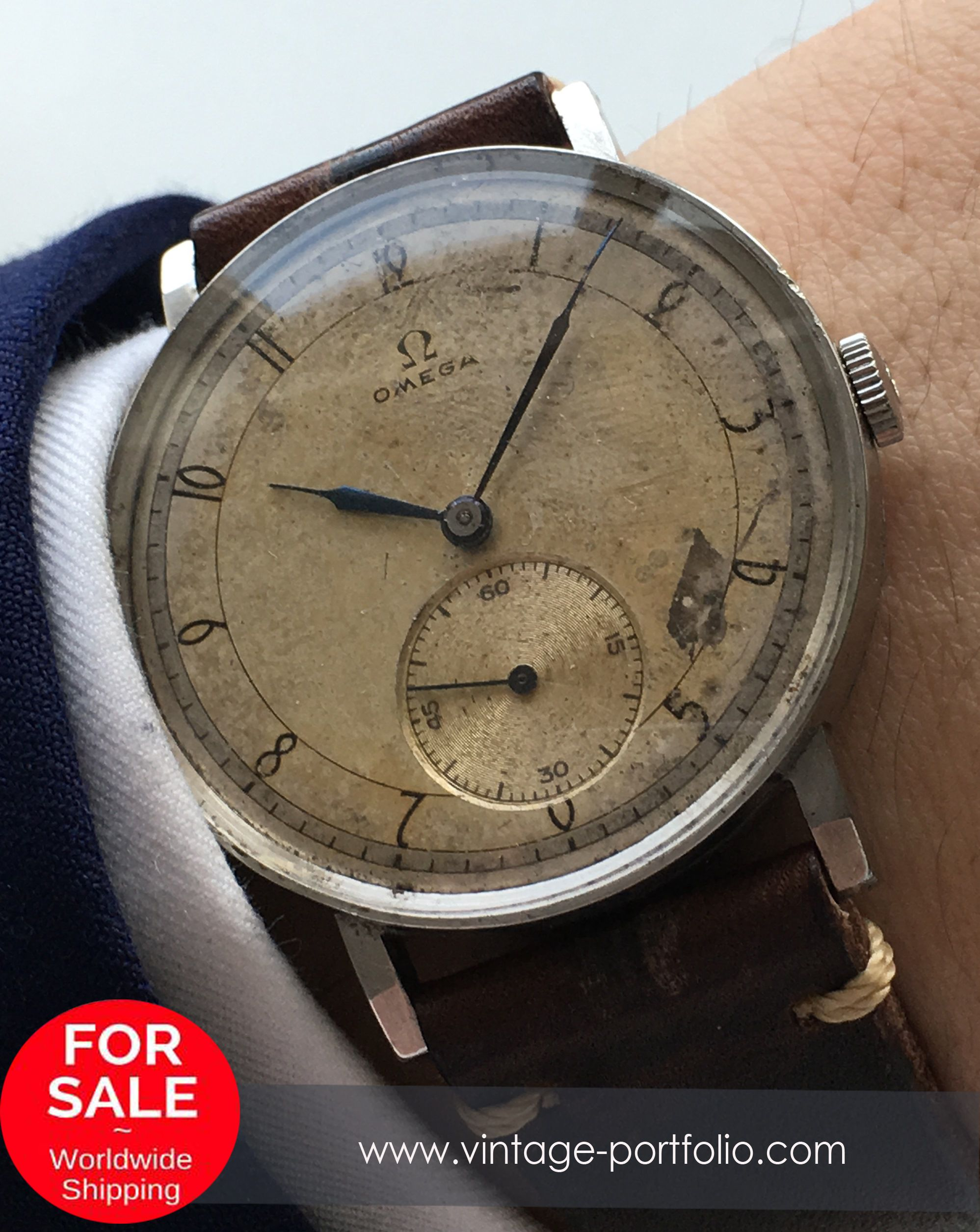 Superrare 38mm Omega Oversize Jumbo watch from 1944 (ww2, wk2) Vintage #omegawatches #omegavintage #rarewatches