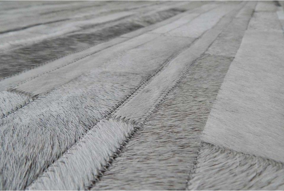 Patchwork Cowhide Rug In Classic White And Gray Stripes Patchwork Cowhide Rug Patchwork Cowhide Cowhide Patch Rug