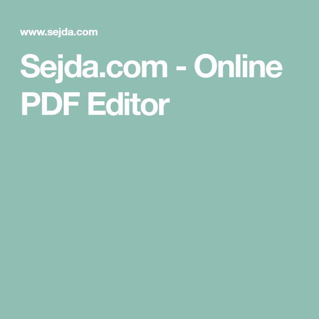 pdf editor sejda