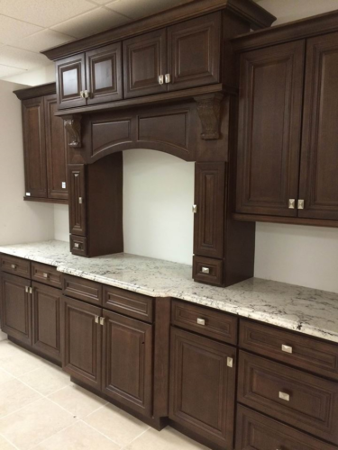 Dark Caramel Kitchen Cabinets 10x10 Layout Or Custom Fit