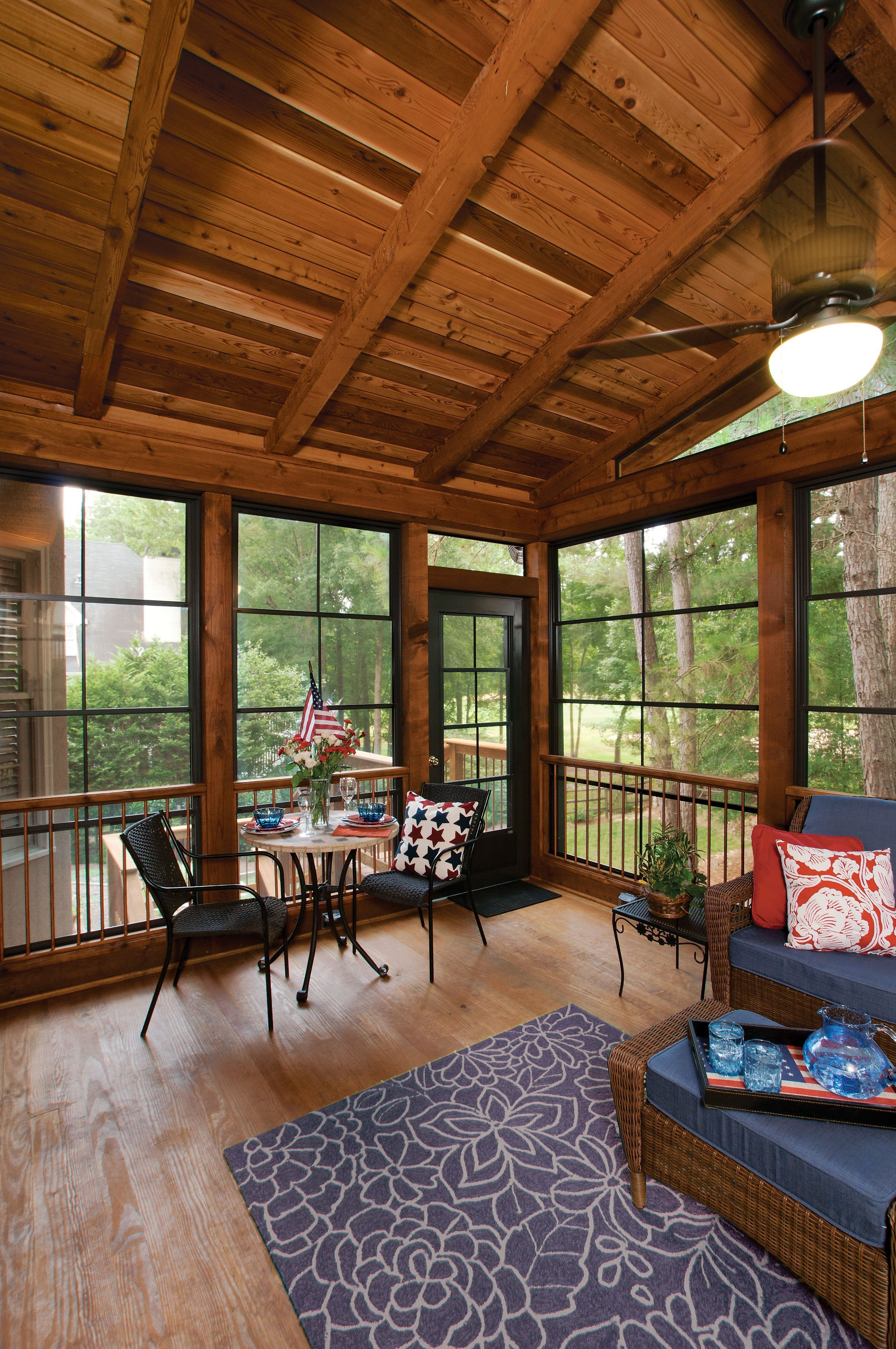 Pin By Ll Fair On Cabin Farm House With Porch Three Season Porch Porch Remodel
