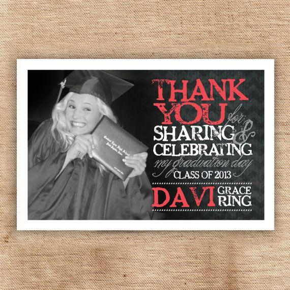 graduation thank you card custom designedgraphically