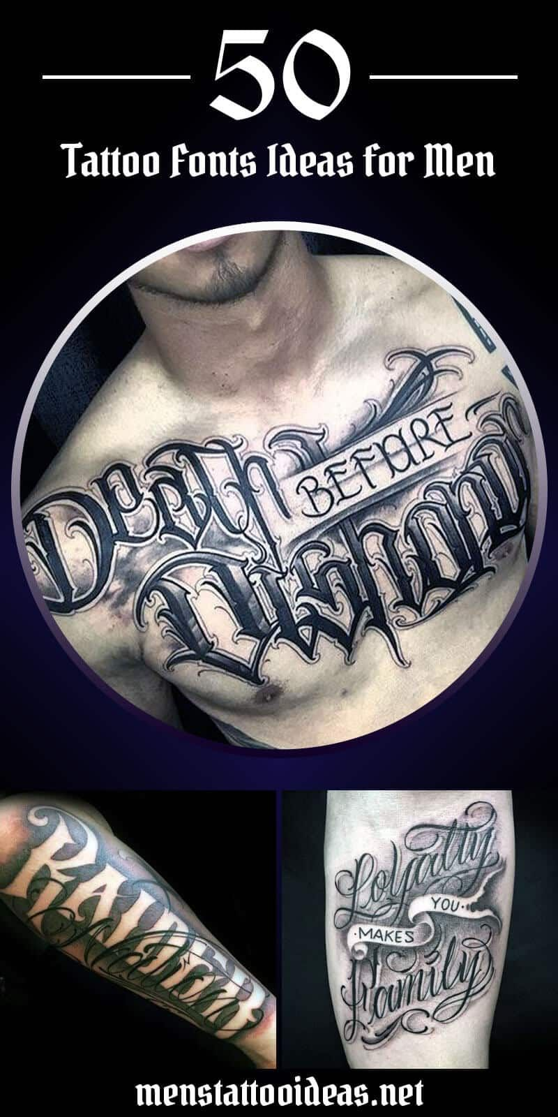 Tattoo Font Ideas for Men Tattoo font for men, Tattoo