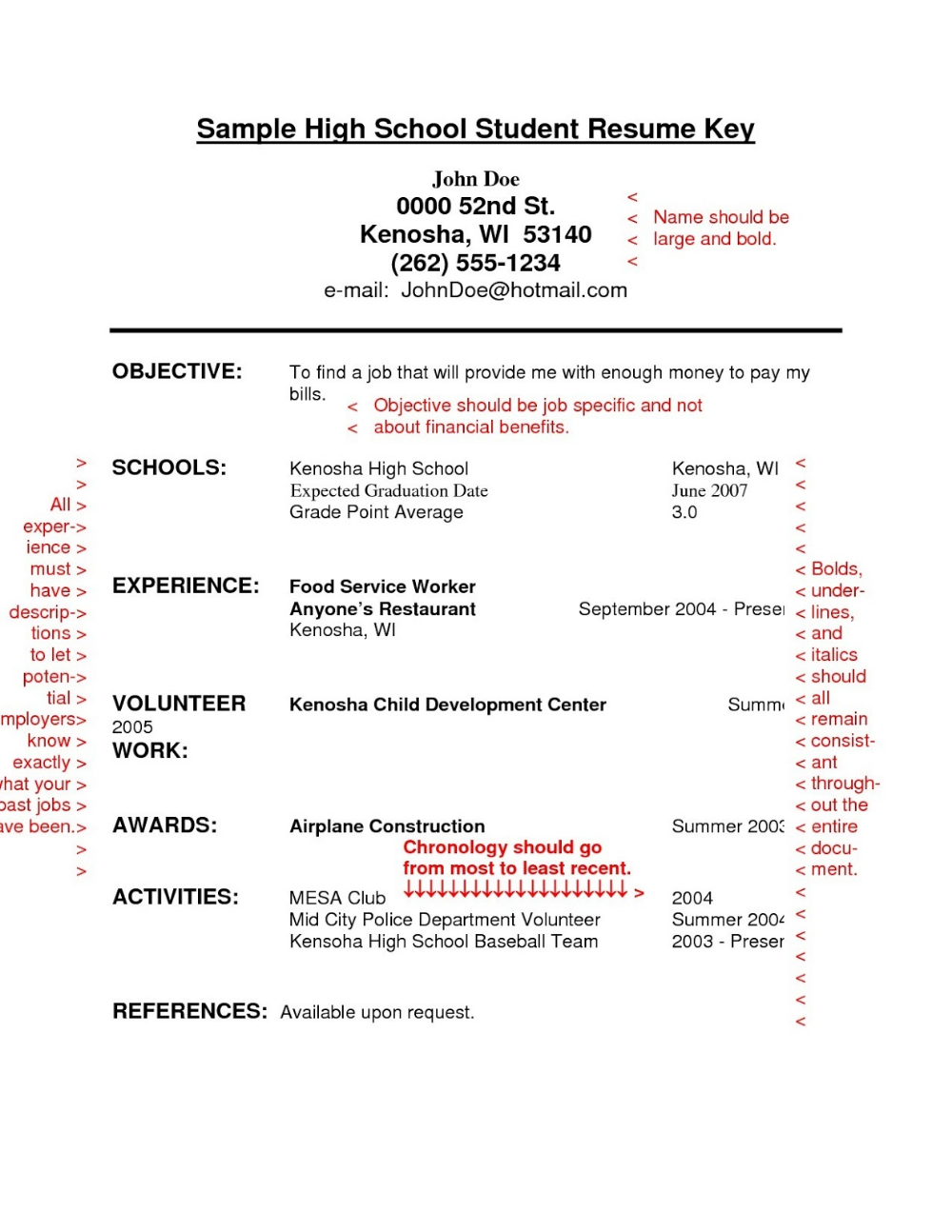 Food Service Resume Objective Examples Food Service Supervisor Resume Objective Example High School Resume Template Student Resume Template High School Resume