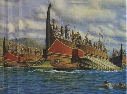 ancient greek ship art | When the Roman Empire came about ...