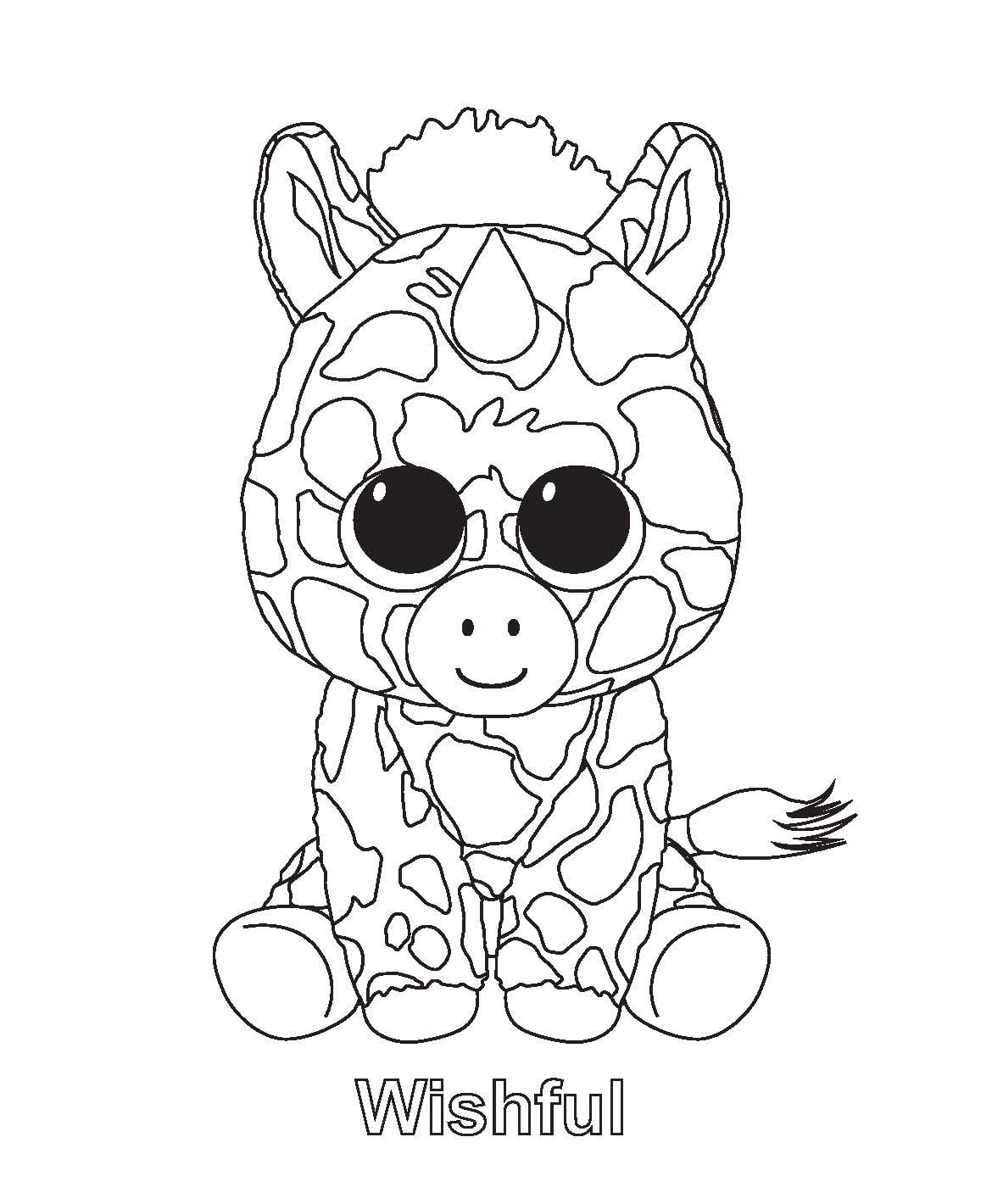 beanie boo coloring pages photo - 5  60391280a5cd