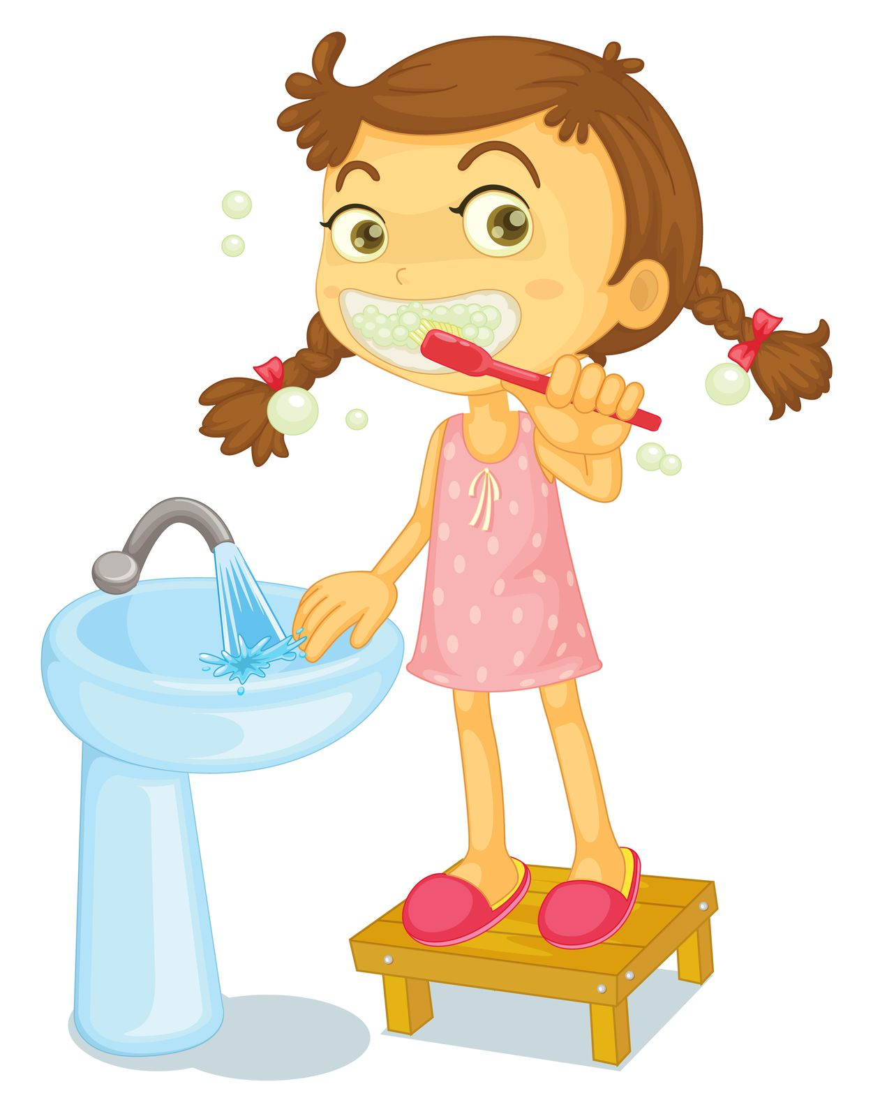 small resolution of brush your teeth clipart 1