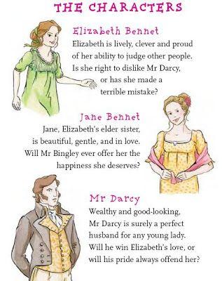 Pride And Prejuice For Kids Pride And Prejudice Characters Jane Austen Books Pride And Prejudice