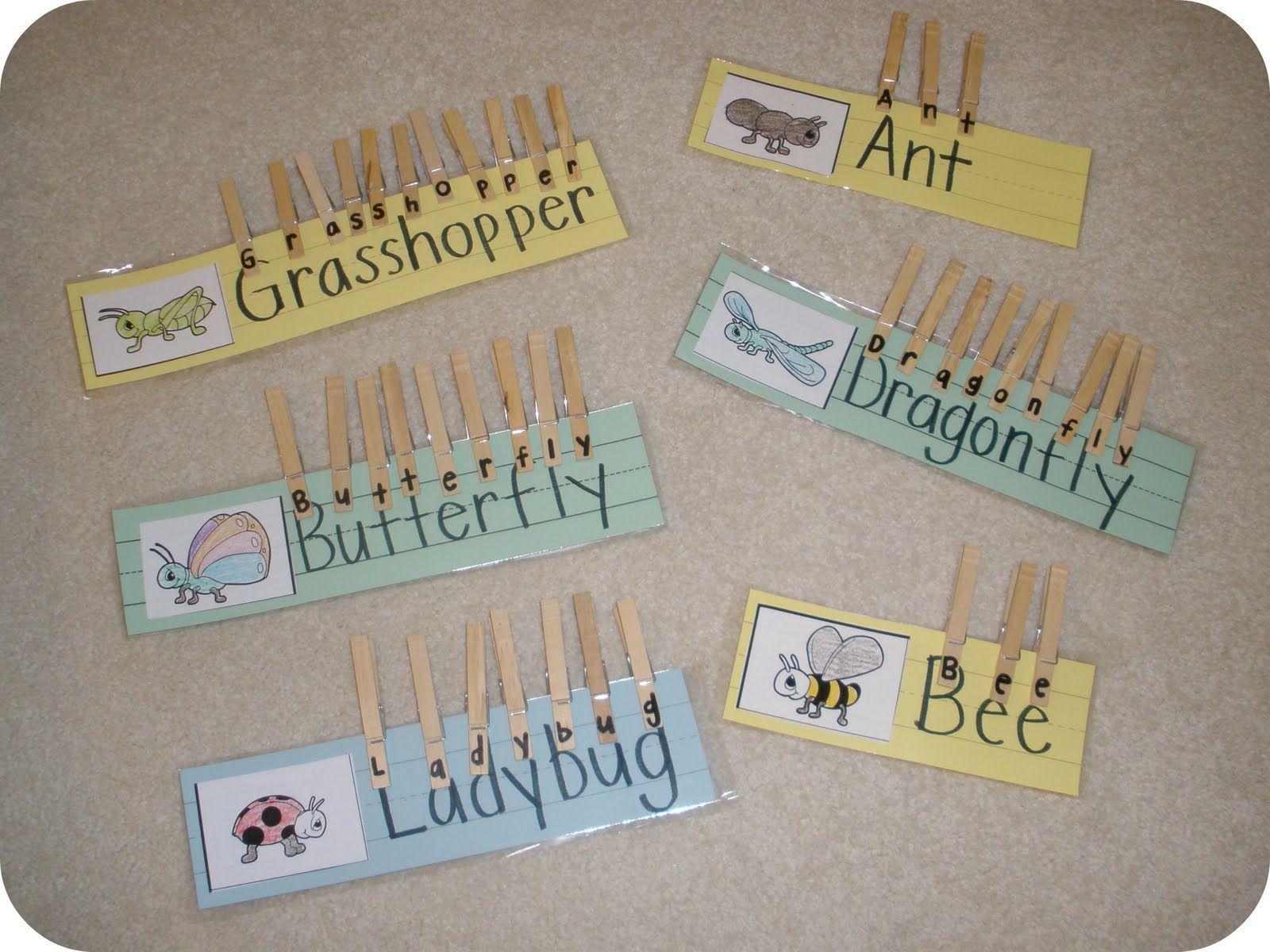 creating & teaching: bug word clips.