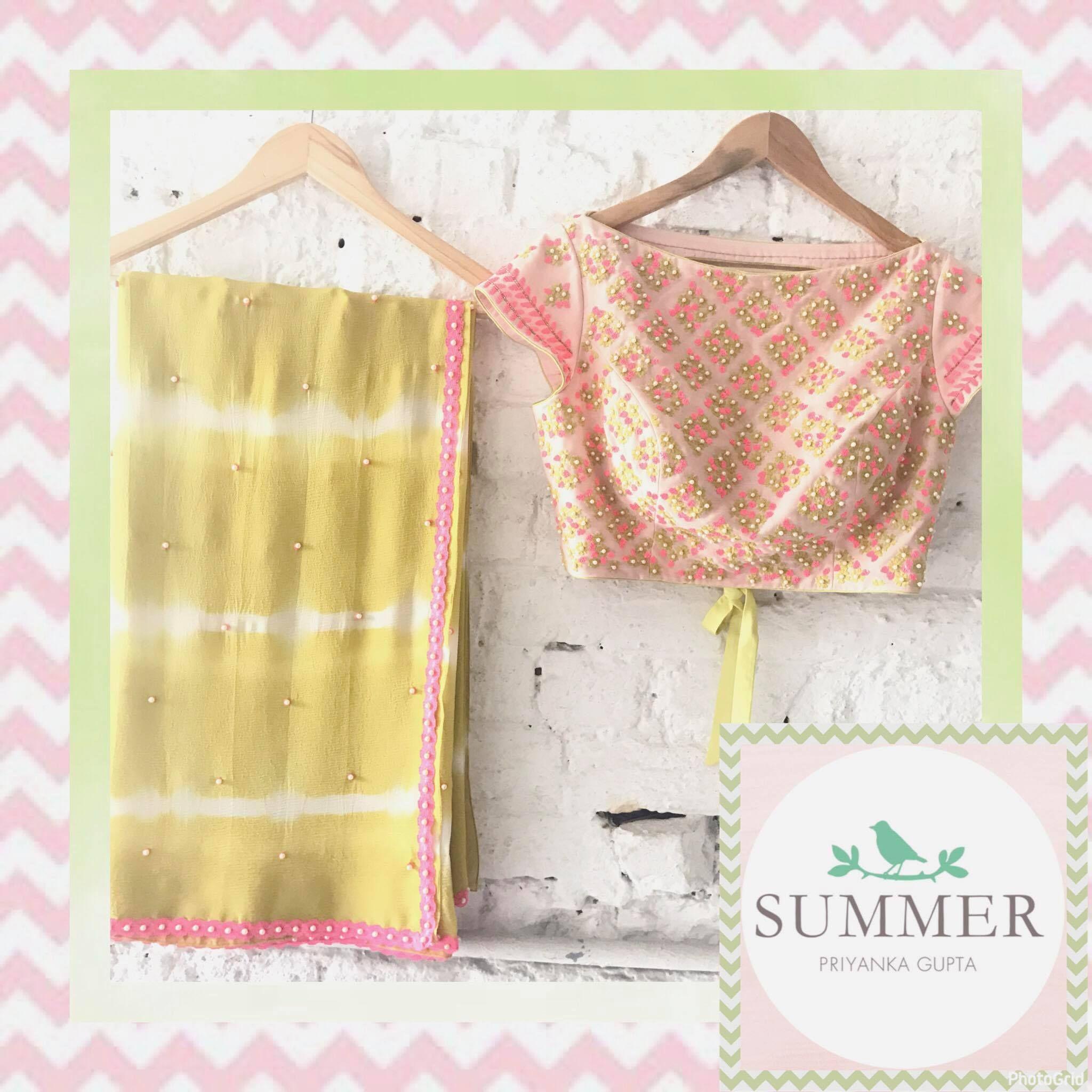 Paradise  Mustard Tie Dye Saree .