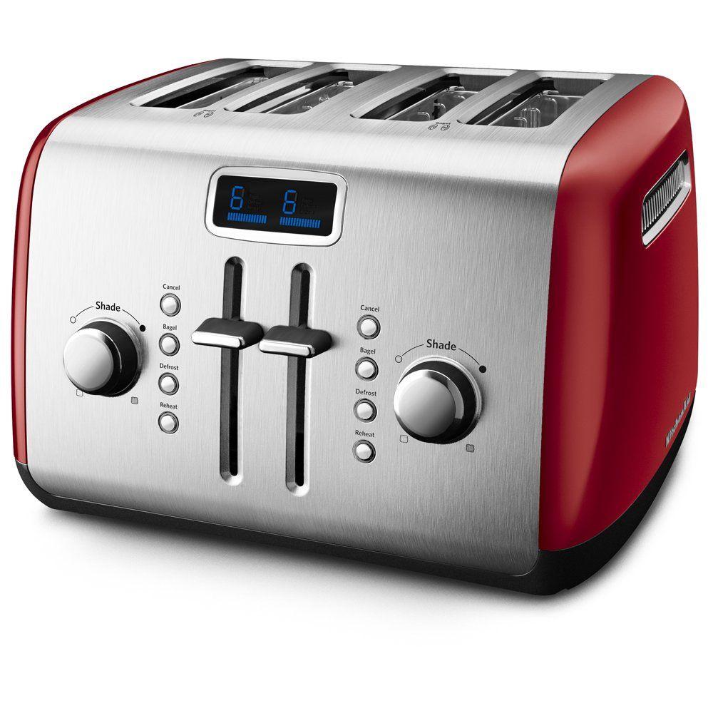 Kitchenaid kmt422er 4slice toaster with manual highlift