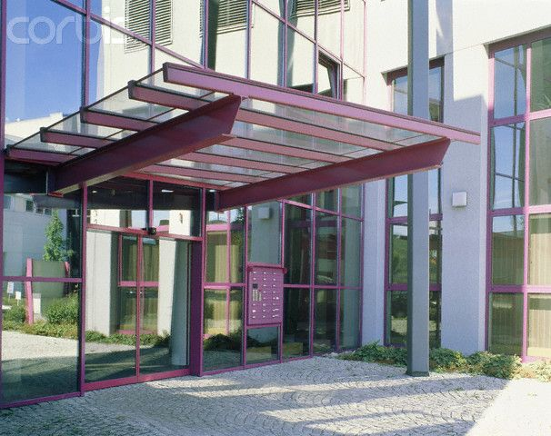 Commercial building entrance canopies entrance with for Office glass door entrance designs