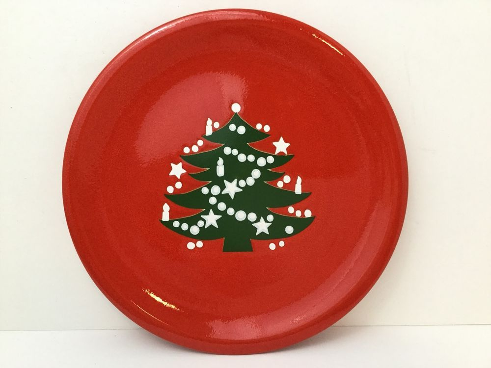 Waechtersbach Dinner Plate Christmas Tree Red 10\  Replacement EXCELLENT & Waechtersbach Dinner Plate Christmas Tree Red 10\