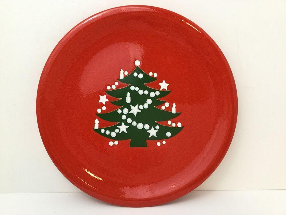 Waechtersbach Dinner Plate Christmas Tree Red 10