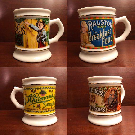 Vintage Advertising Mugs, The Corner Store Porcelain Mug