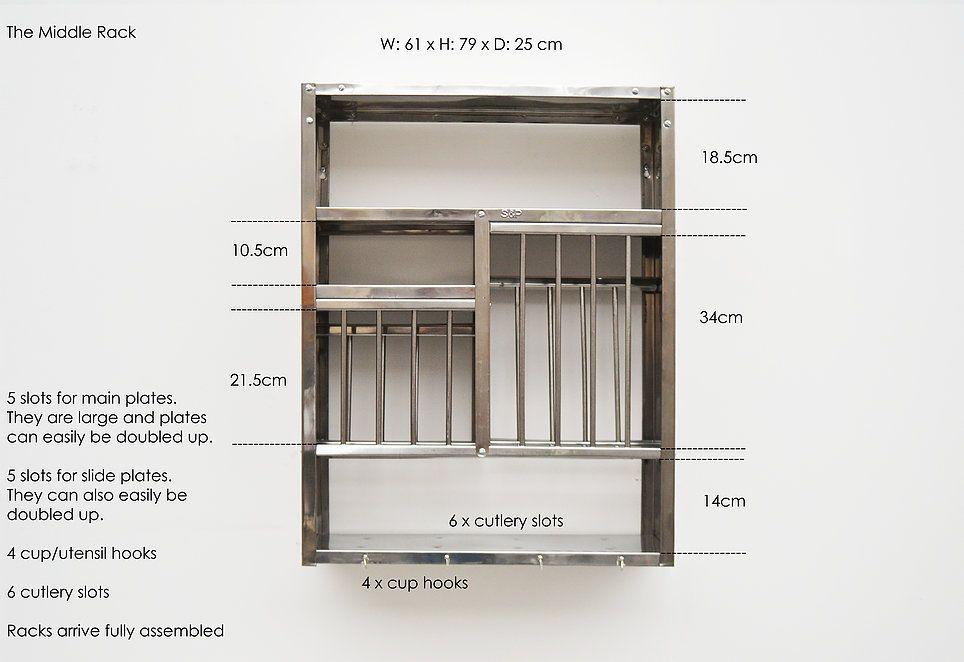 THE PLATE RACK stainless steel plate racks | MEASUREMENTS & THE PLATE RACK stainless steel plate racks | MEASUREMENTS | Ideas ...
