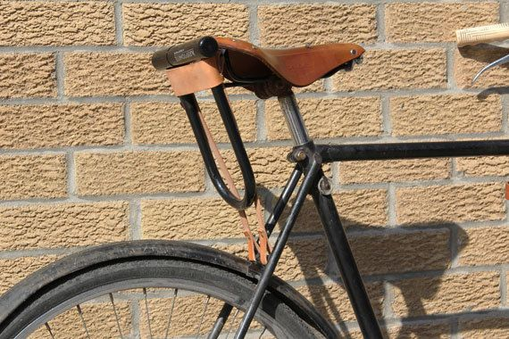 Bicycle U Lock Holster Leather Leather Bicycle Bicycle