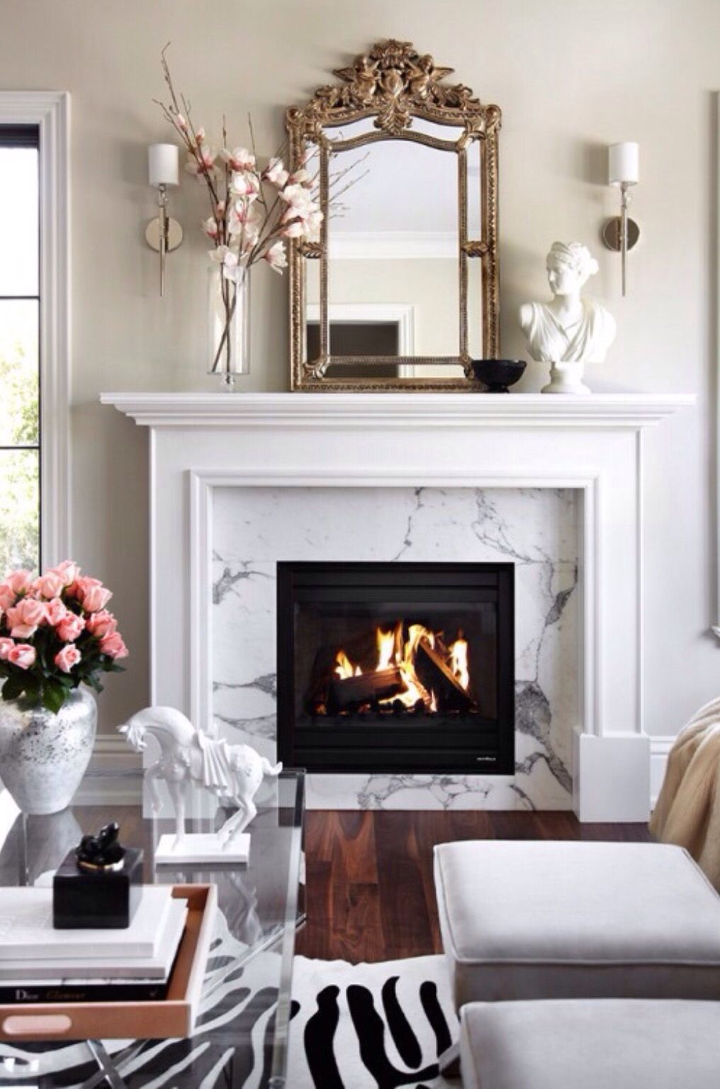 Marble Fireplaces Ideas 7 Living Room Design Ideas To Make Your Space Look Luxe In 2019