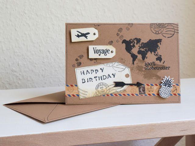 Personnalisé Joyeux voyages monde Bon Voyage carte de voyage