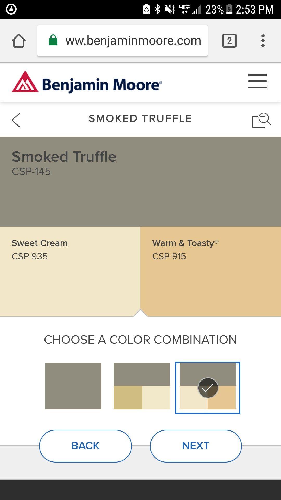 Benjamin Moore Smoked Truffle Benjamin Moore Smoke Truffles Color Schemes