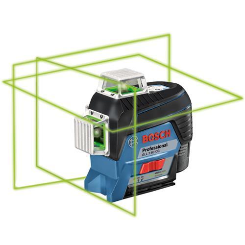 Bosch Gll 3 80 Cg 30m 360 Green Multi Line Laser Bosch Green Laser Laser Levels