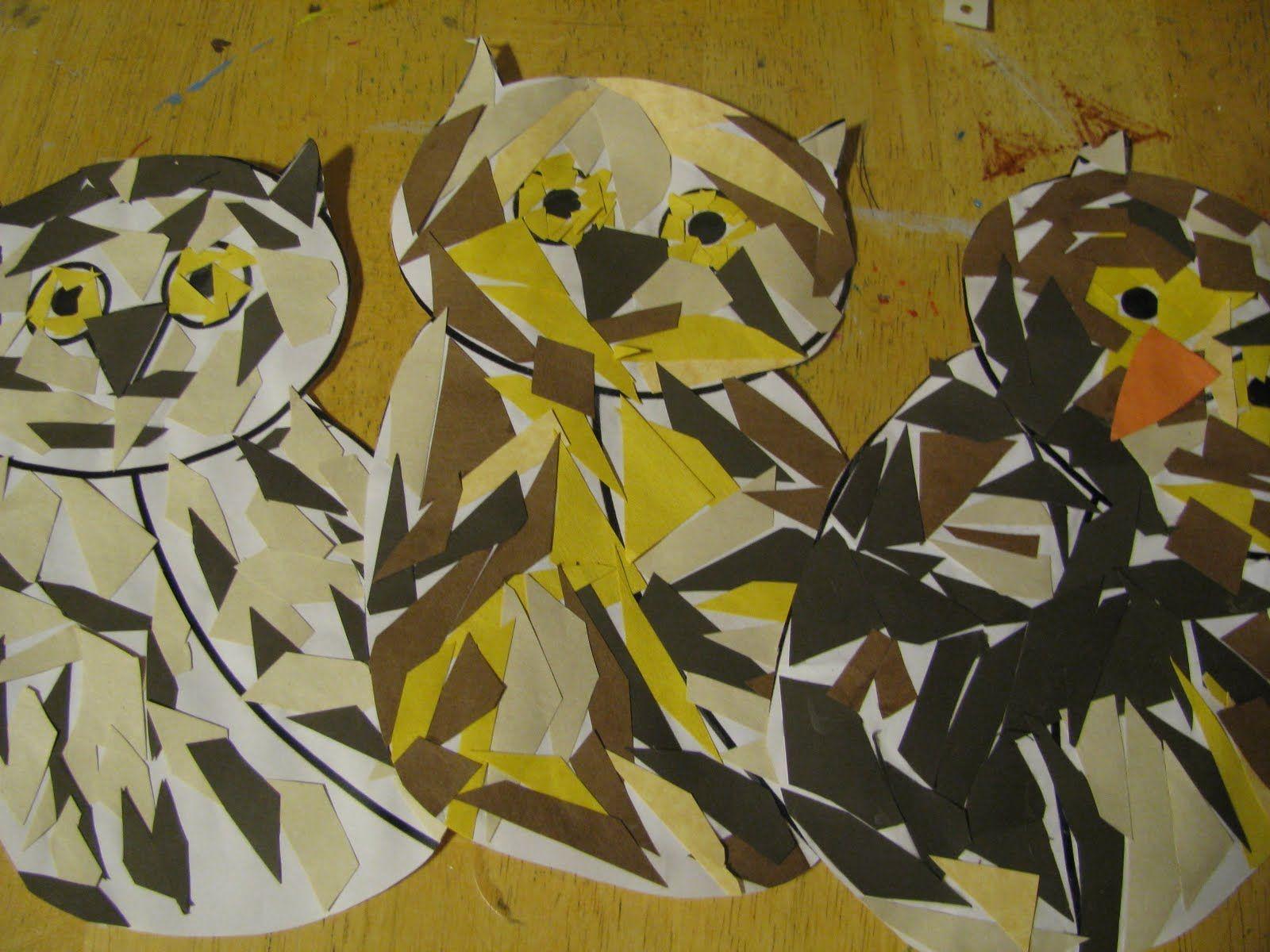 Owl Moon - owl craft (template: http://www.dltk-kids.com/t.asp?b=m ...