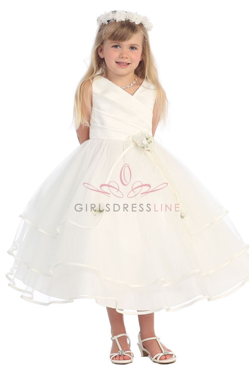 0cacc205615 Flower Girl Dresses - In Beautiful Colors   Styles at GirlsDressLine.Com - Girls  Dress Line